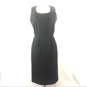 Calvin Klein gray shift career dress 8